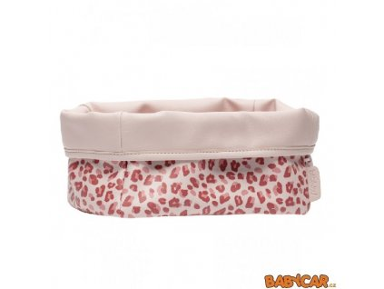 BÉBÉ-JOU textilní košík na kojenecké potřeby Leopard Pink