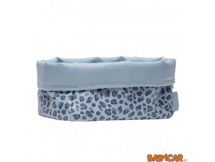 BÉBÉ-JOU textilní košík na kojenecké potřeby Leopard Blue