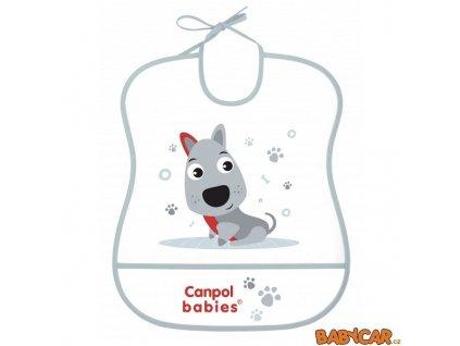CANPOL BABIES plastový bryndák měkký CUTE ANIMALS Pejsek