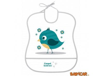 CANPOL BABIES plastový bryndák měkký CUTE ANIMALS Ptáček