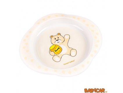 CANPOL BABIES plastový talíř MY DREAM Žlutá