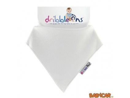 DRIBBLE ONS slintáček/šátek CLASSIC White