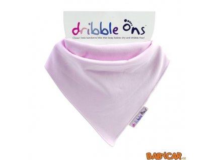 DRIBBLE ONS slintáček/šátek CLASSIC Baby Pink