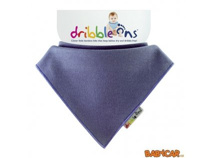 DRIBBLE ONS slintáček/šátek BRIGHT Blueberry