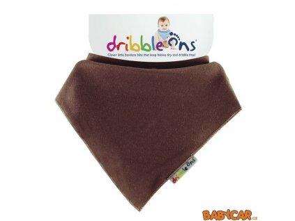 DRIBBLE ONS slintáček/šátek BRIGHT Chocolate