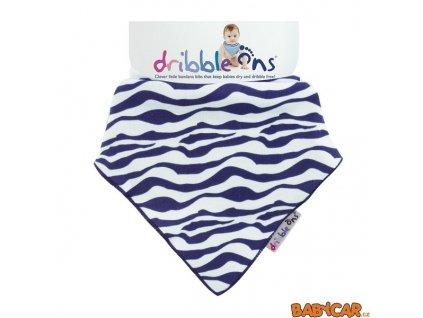 DRIBBLE ONS slintáček/šátek DESIGNER Zebra