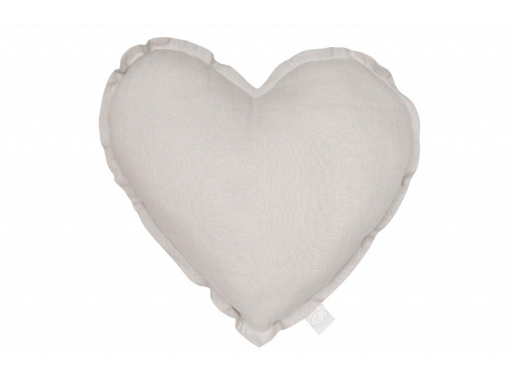 1329 polstar lneny srdce svetle seda