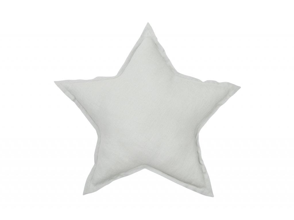 1341 polstar lneny hvezda svetle seda