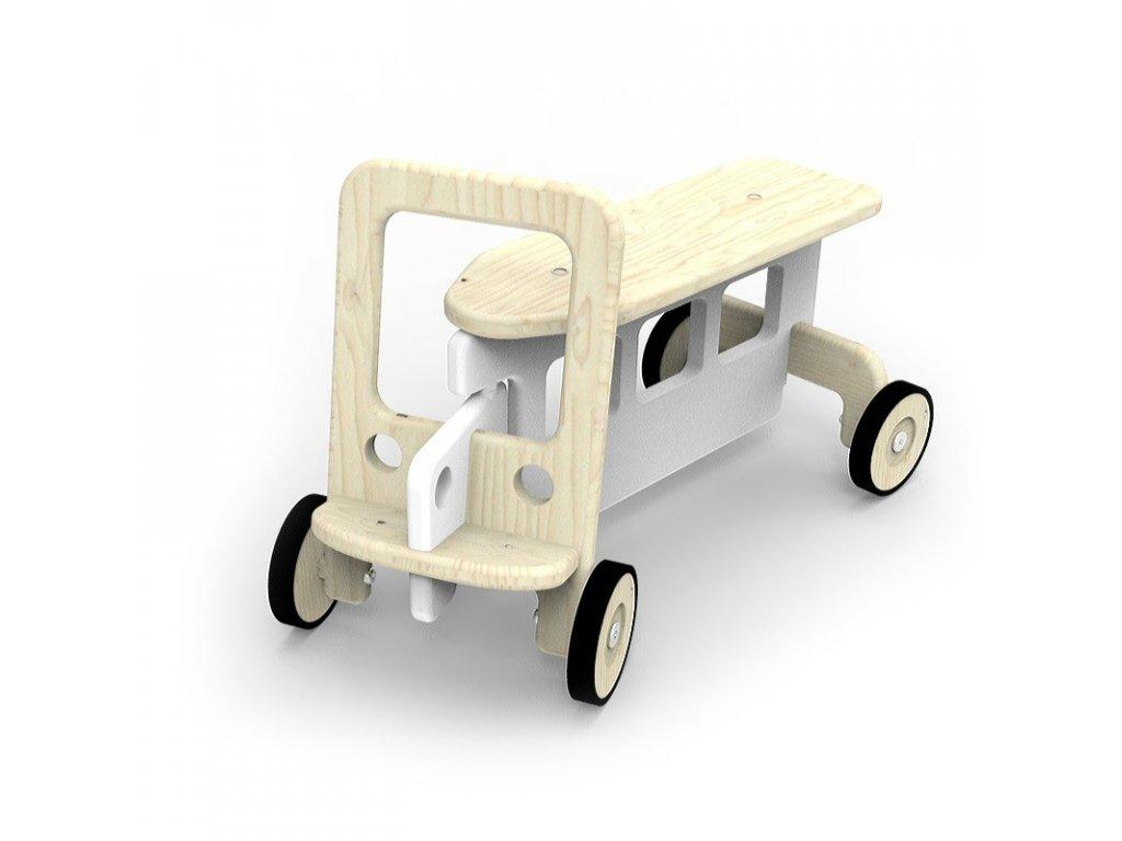 Dětské odstrkovadlo Auto dřevěné (Barva šedá)