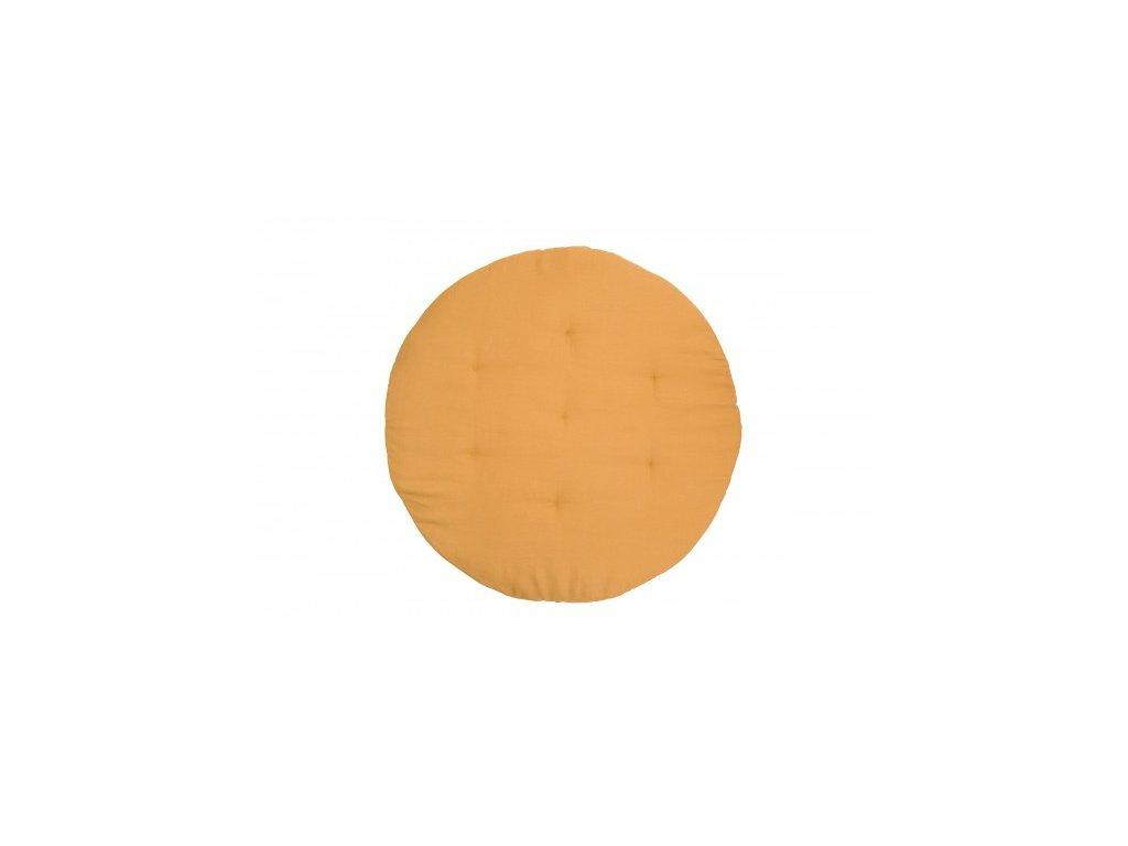Hraci podlozka lnena karamelova