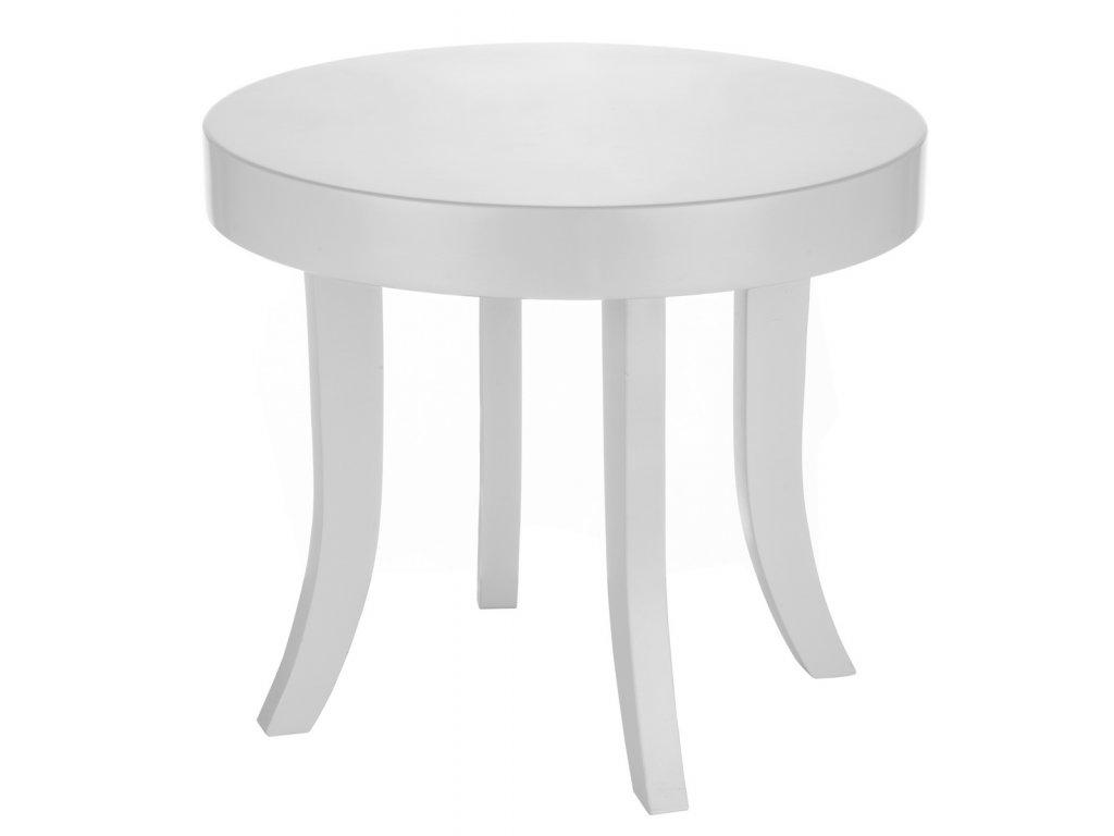 Dětský stolek kulatý (Barva desky Bílá, Barva nohou Přírodní - dub)