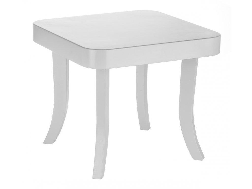 Dětský stolek hranatý (Barva desky Bílá, Barva nohou Přírodní - dub)