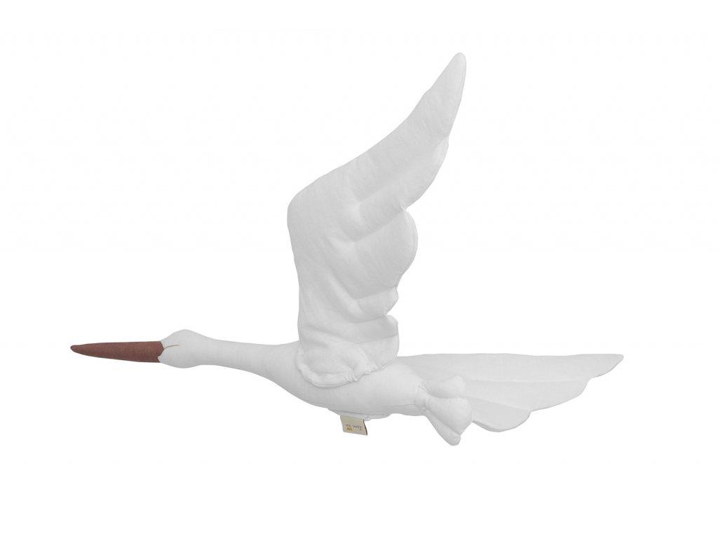 Stork linen white