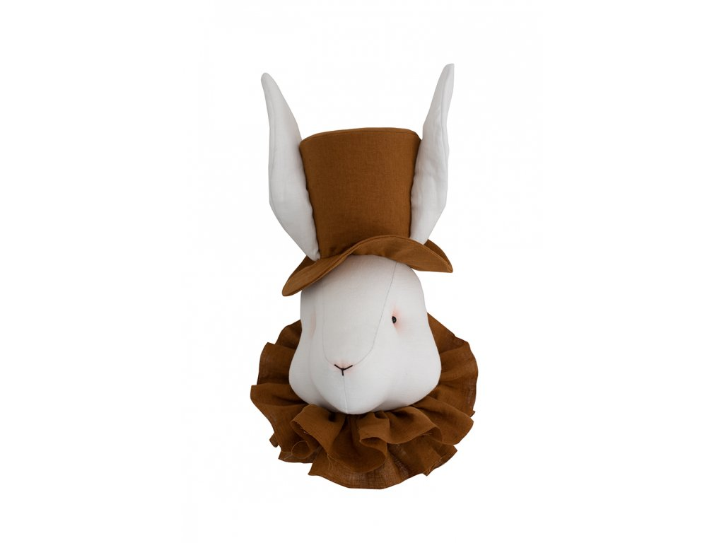 lněný klobouk hořčicová