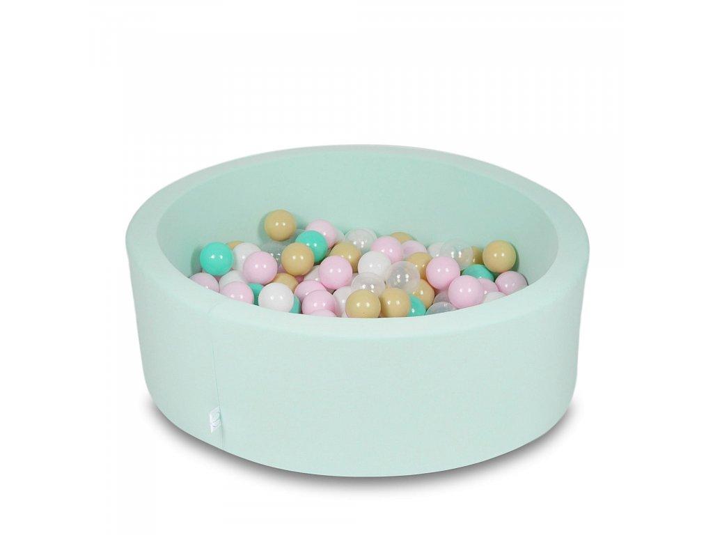 Suchý bazének + 200 ks kuliček kulatý, mintový (Rozměr 90x40 cm)