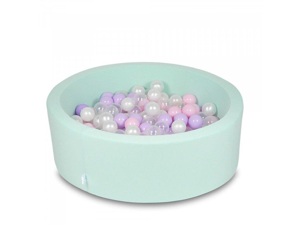 Suchý bazének + 400 ks kuliček kulatý, mintový (Rozměr 90x40 cm)