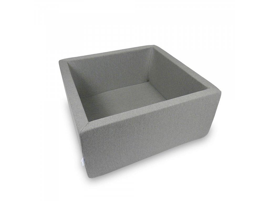 Suchý bazének bez kuliček hranatý, tmavě šedý (Rozměr 90x90x40 cm)