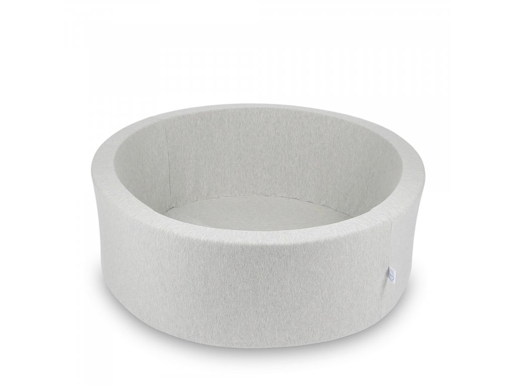 Suchý bazének bez kuliček kulatý, světle šedý (Rozměr 90x40 cm)