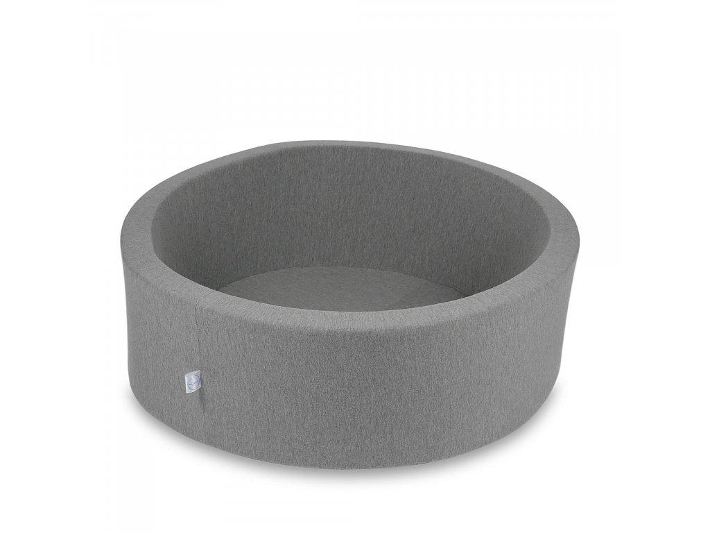 Suchý bazének bez kuliček kulatý, tmavě šedý (Rozměr 90x40 cm)