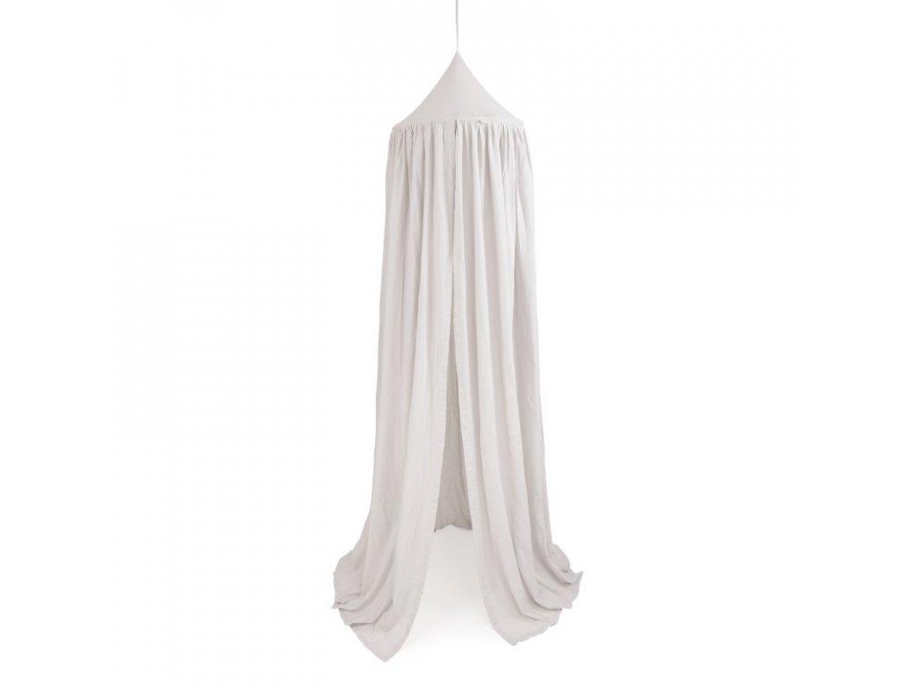 baldachyn bavlna svetle sedy