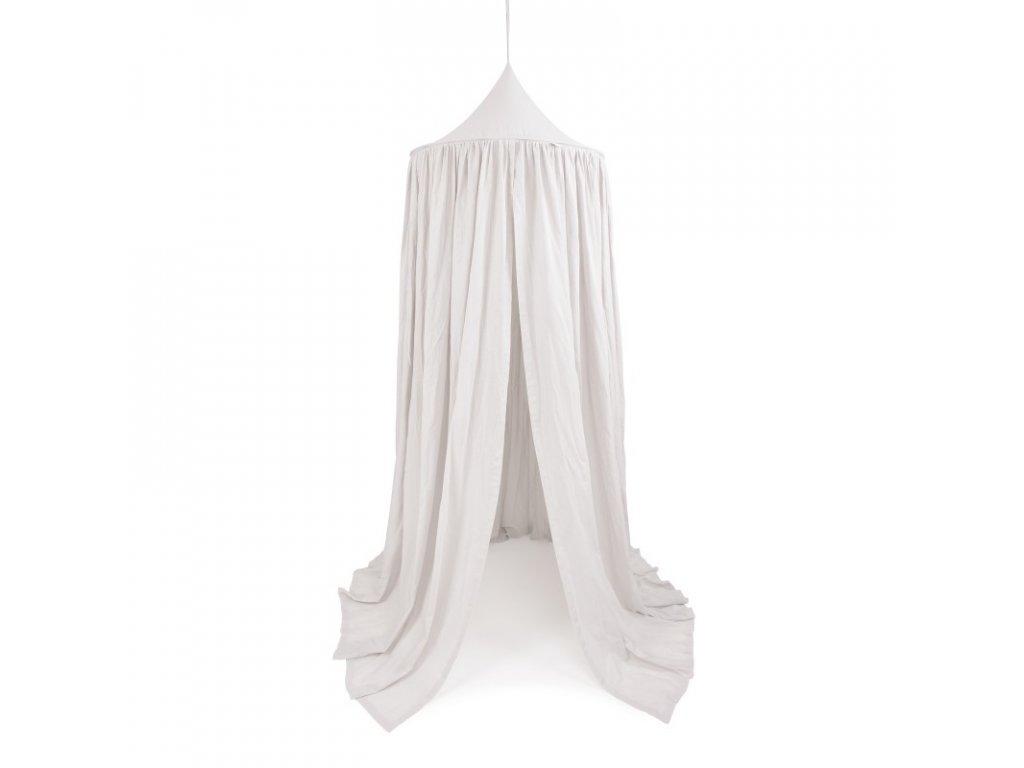 baldachyn bavlna maxi svetle sedy