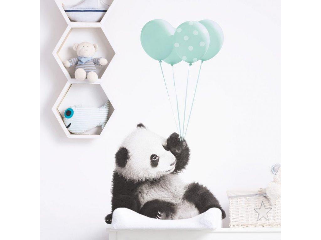 Samolepka na zed Panda mintova