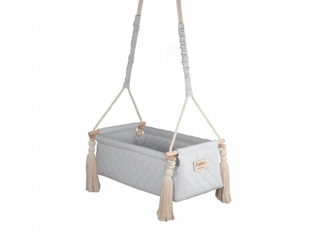 kolyska newborn swing gray
