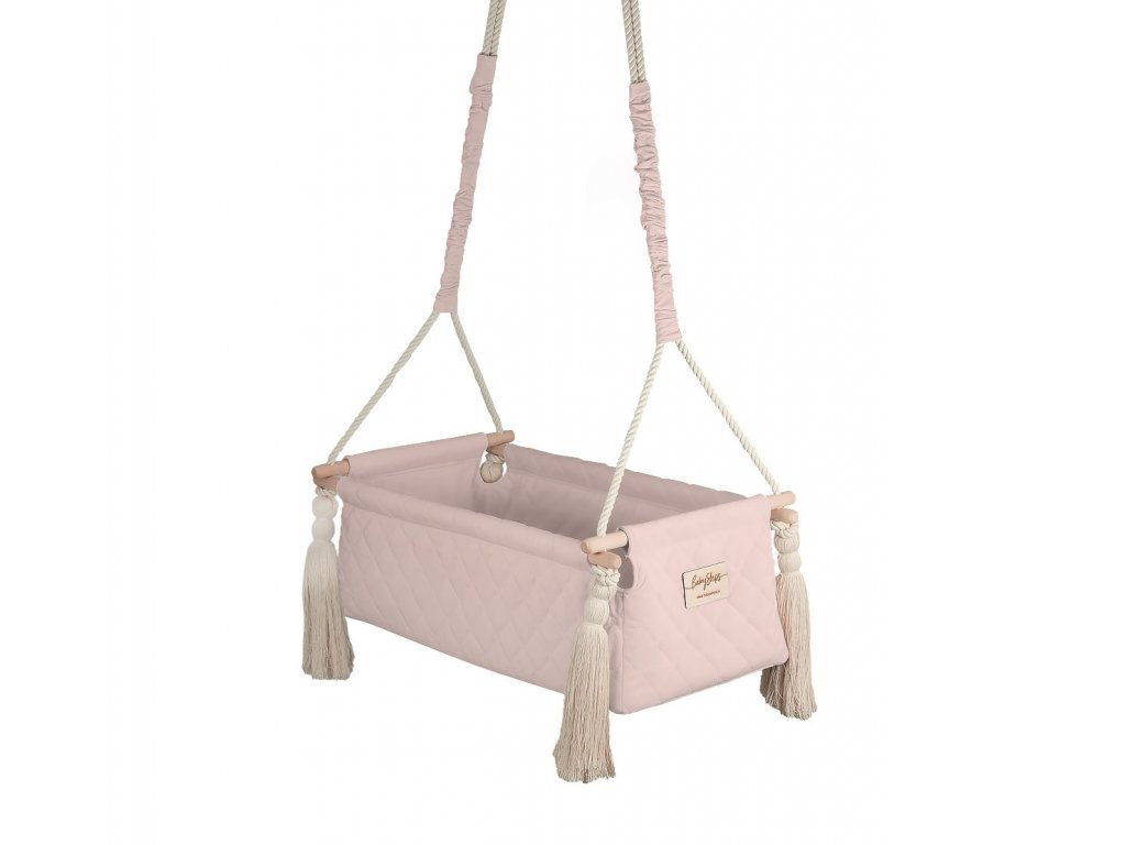 kolyska newborn swing soft pink