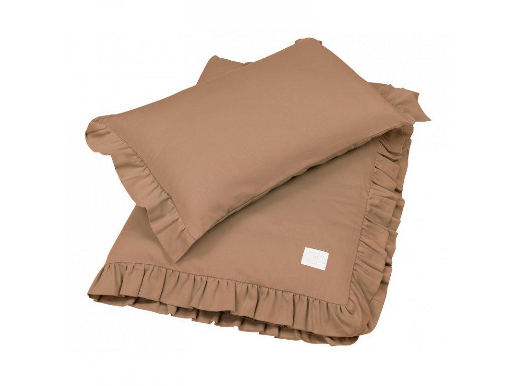 povleceni bavlnene s kanyrem s vyplni 80x100 cokoladova 01