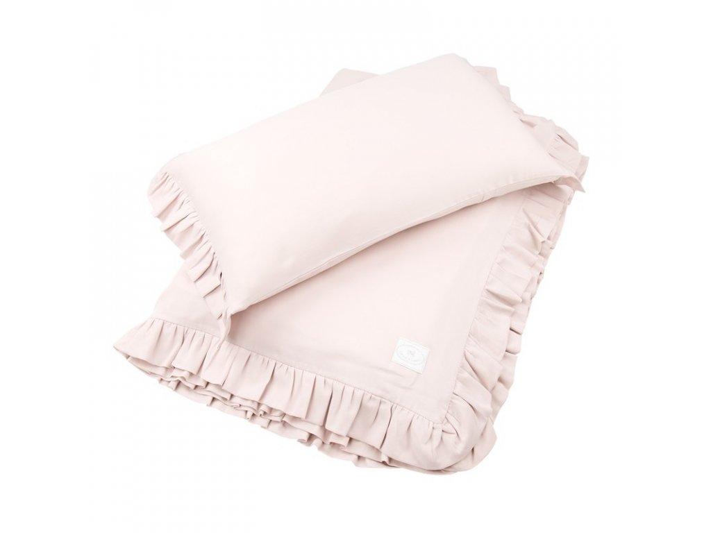 povleceni bavlnene s kanyrem 100x135 pudrova ruzova 01
