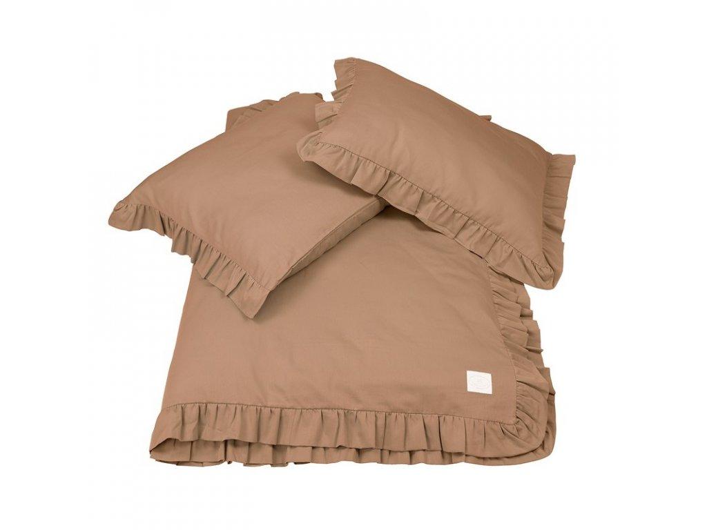 povleceni bavlnene s kanyrem 140x200 cokoladova 01