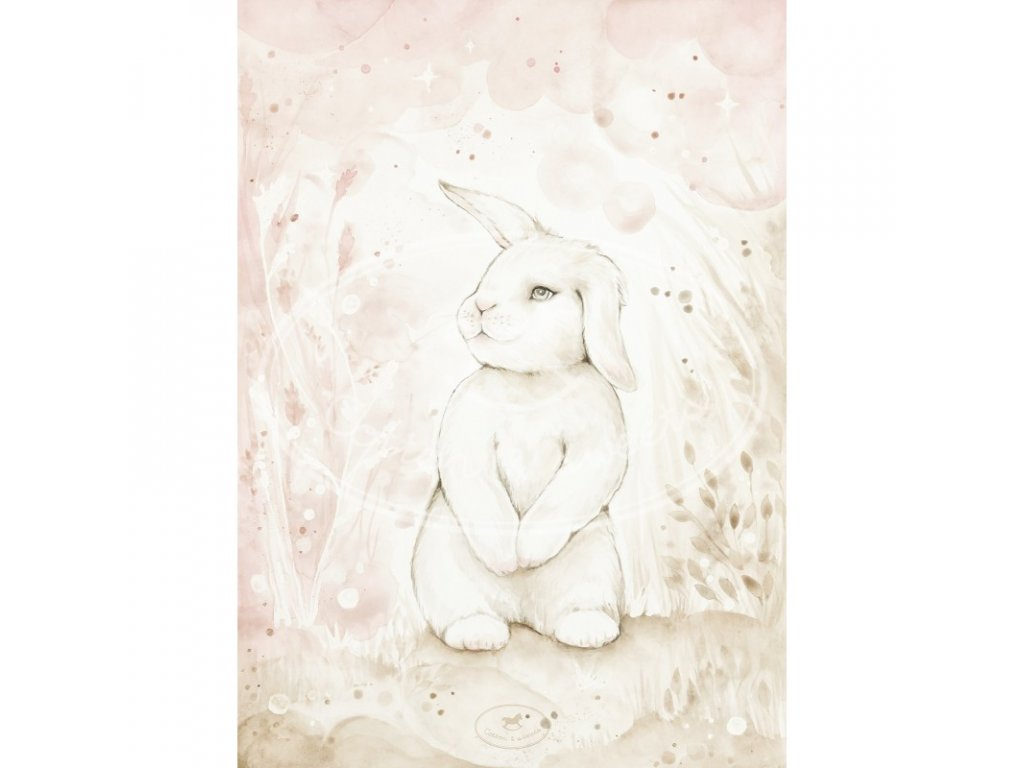 plakat lovely rabbit 18x24 01