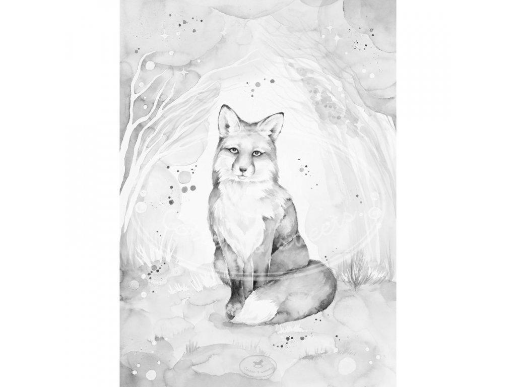 plakat lovely fox 18x24 01