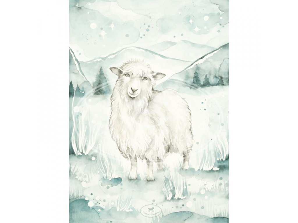 plakat lovely sheep 18x24 01