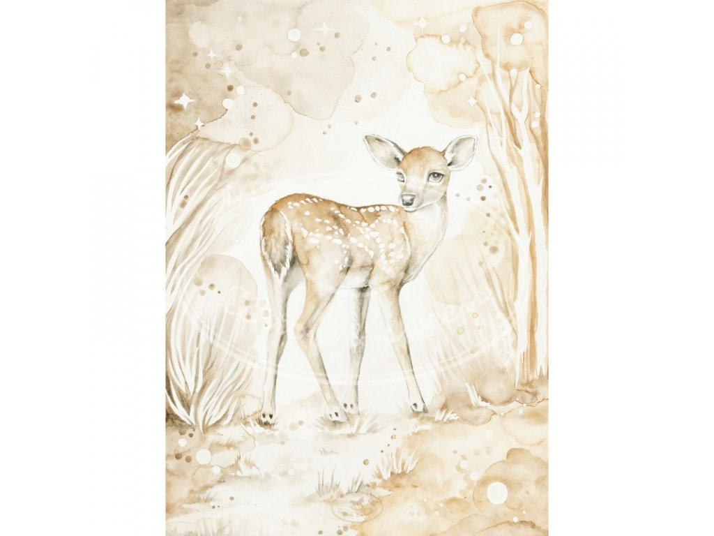plakat lovely fawn 18x24 01