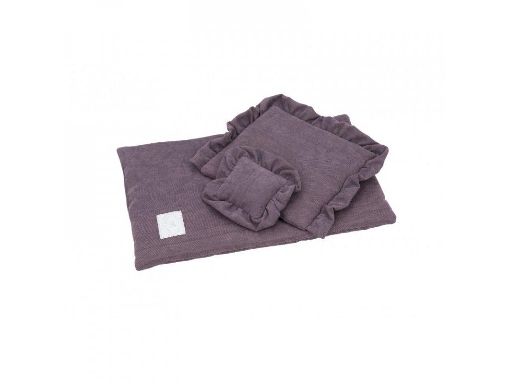 povleceni bavlnene pro panenky fialova 01