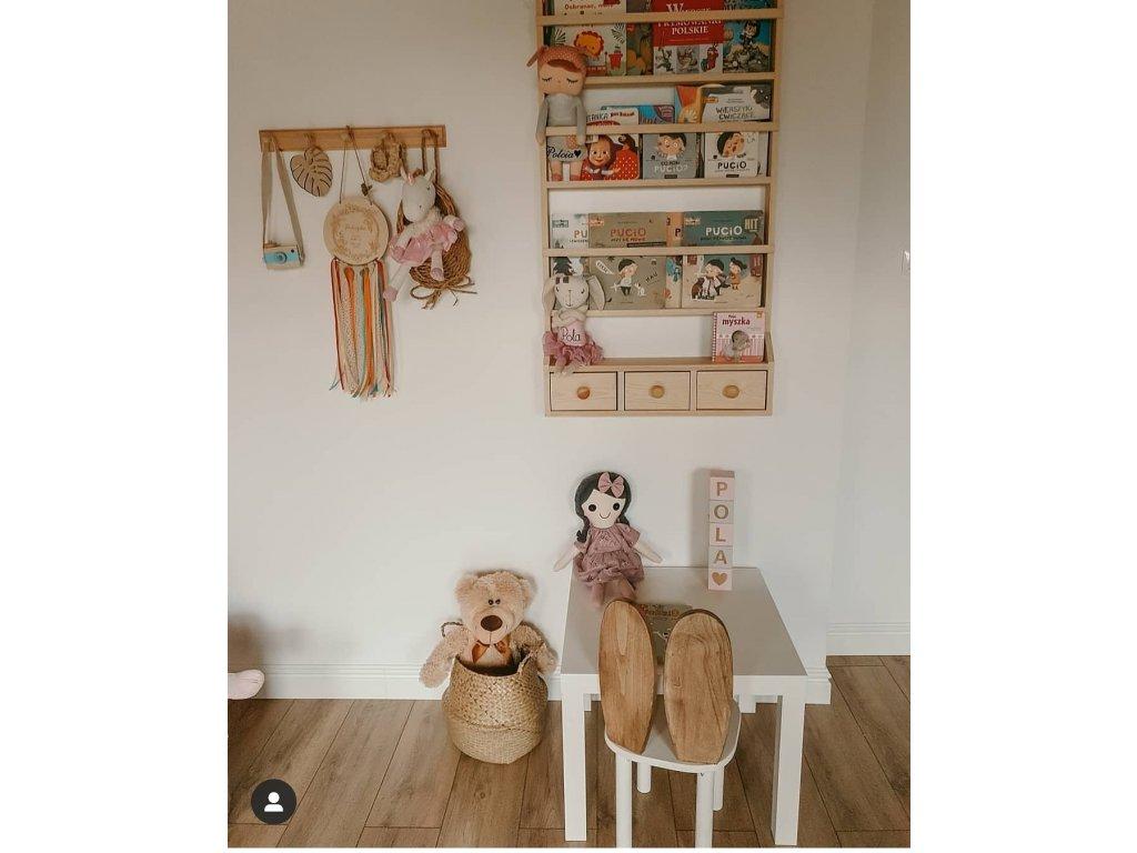 Knihovna BabyDeco přírodní dřevo malá, 80 x 60 cm