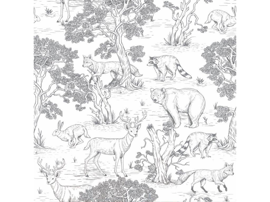 Animals White tapeta 001