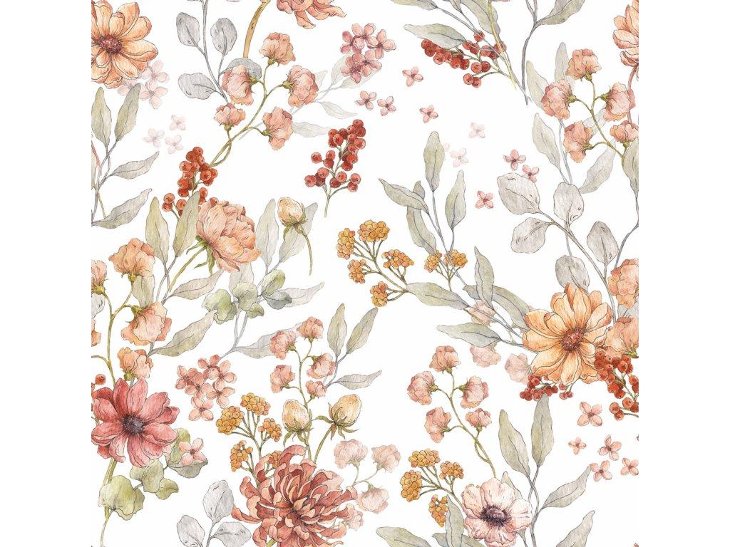Autumn Meadow White tapeta 001