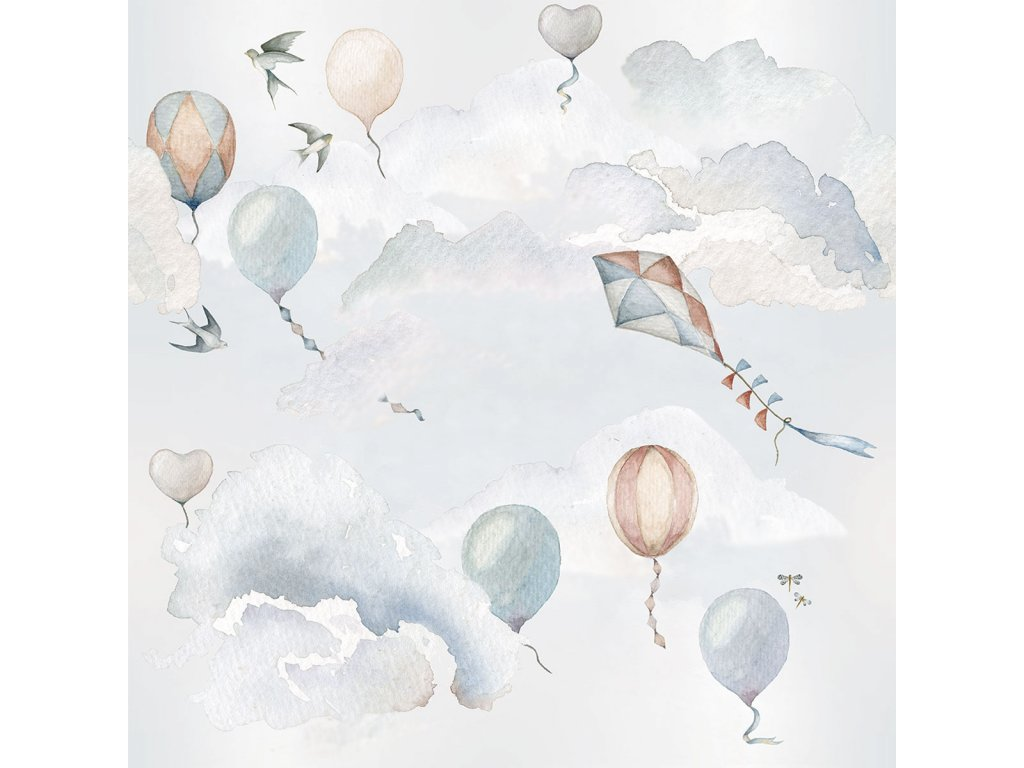 Balloons Fairytale wallpaper 001