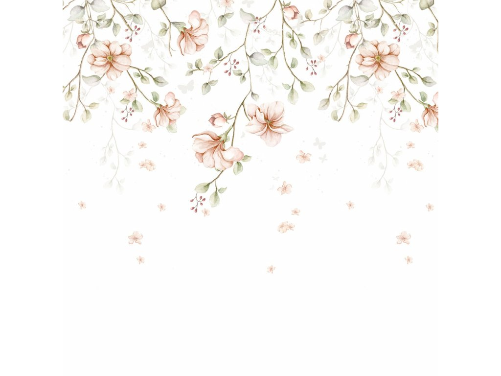 Paradise garden Pastel Wallpaper 001