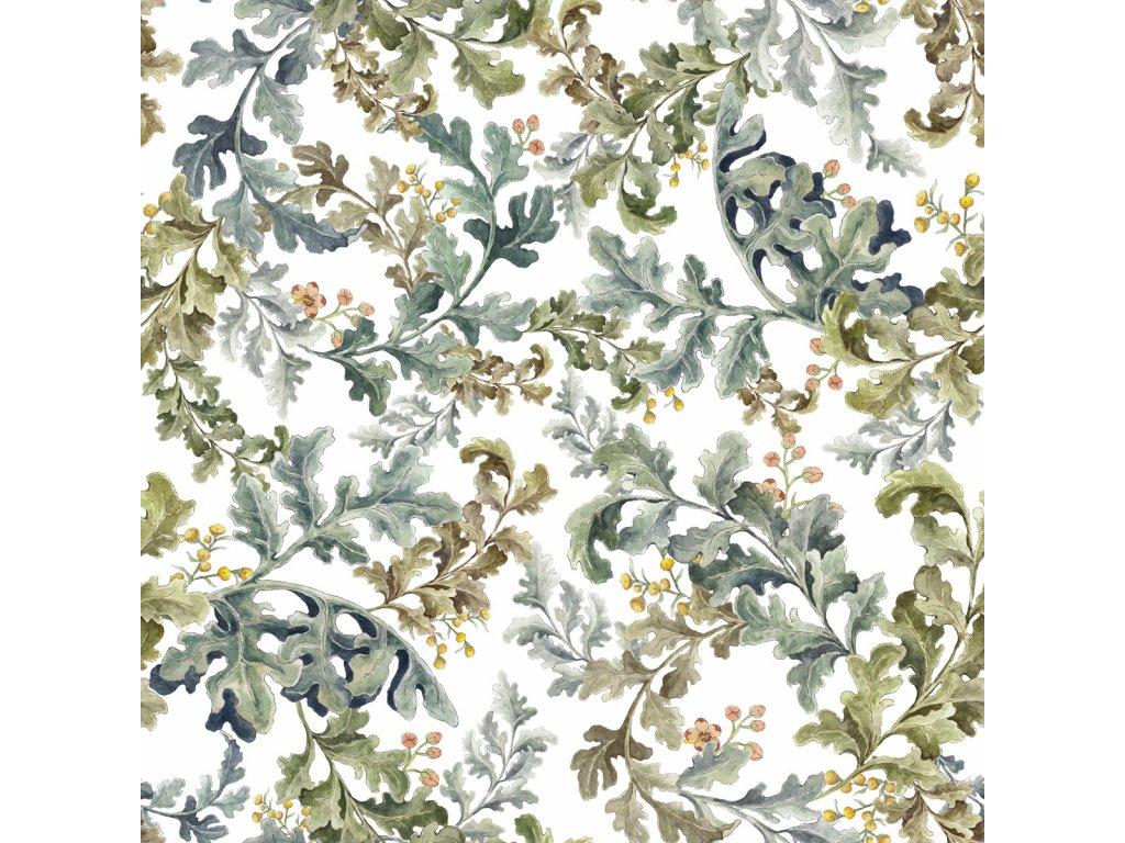 Paradise Leaves Classic Light Wallpaper 001