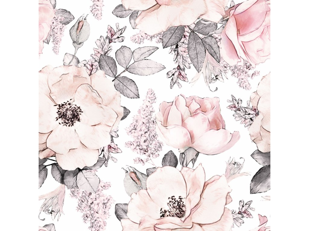 Pink Garden wallpaper 001
