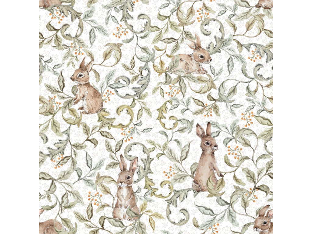 Rabbits groove Light Wallpaper 001