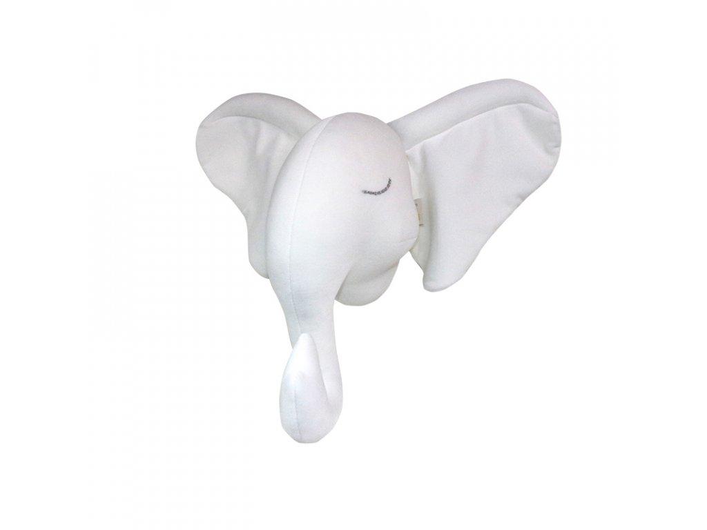 Slon na zeď bílý
