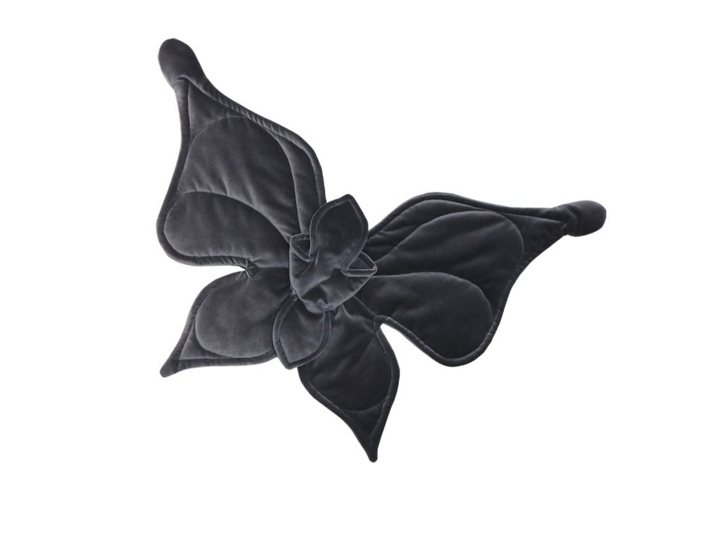 Motýl na stěnu grafitový