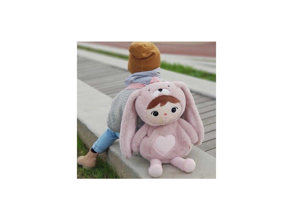 batoh kralik pink