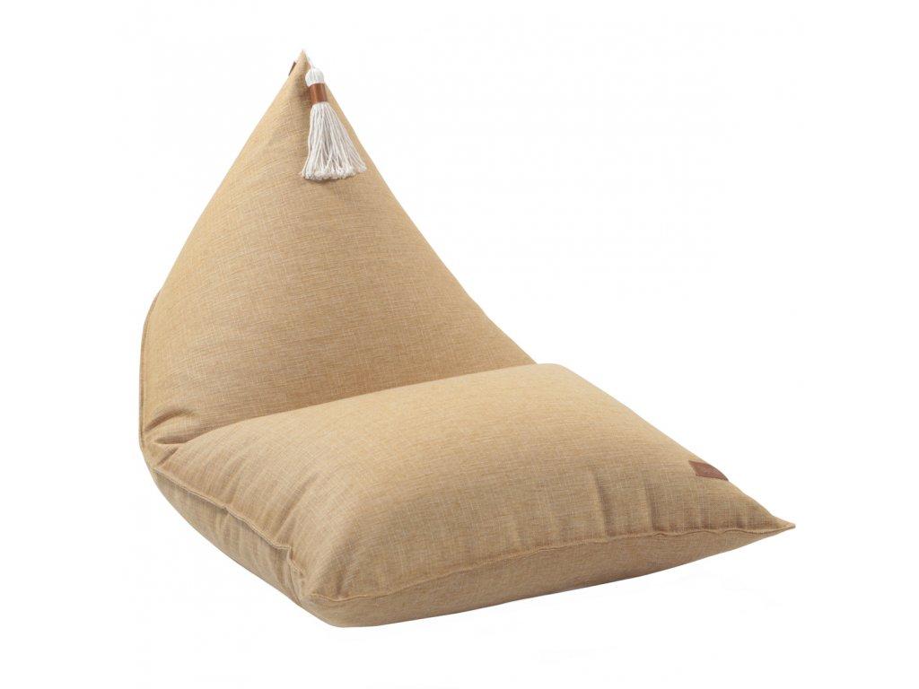 yellow beanbag tassel