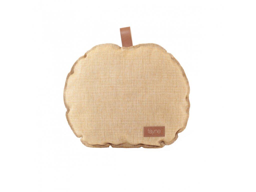 apple pillow yellow