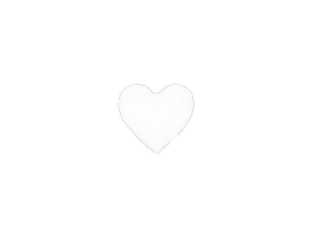 polstarek boho srdce bily